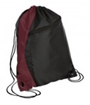 Colorblock Cinch Pack, Maroon/Black, Embroidered