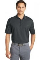 Nike Dri-Fit Micro Pique Polo, Anthracite, Embroidered with Maroon