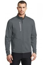 Ogio Endurance Fulcrum Full Zip, Grey, Embroidered with Maroon