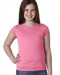 Youth Girls Cut Tee, Hot Pink