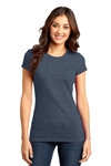 District ® Women's Fitted Very Important Tee ®, Heathered Navy, White Logo