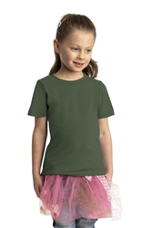 Port & Company® Toddler Fan Favorite™ Tee, Olive, White Logo