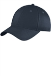 Port & Company® Youth Six-Panel Unstructured Twill Cap, Navy, White Logo