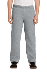 Gildan Youth Heavy Blend Open Bottom Sweatpant (Embroidery, Left Leg)