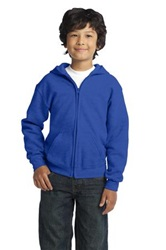 Gildan Youth Heavy Blend Full Zip Hoodie (Embroidery, Left Chest)