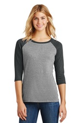 District Made Ladies Perfect Tri 3/4-Sleeve Raglan (Screenprint, Full Front)