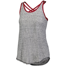 Holloway Ladies Advocate Tank, Black/Scarlet