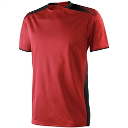 High Five Youth Ionic Soccer Jersey, Scarlet/Black