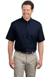 Short Sleeve Mens Easy Care Shirt (logo included)