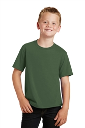 Port & Company® Youth Fan Favorite™Tee, Olive, White Logo